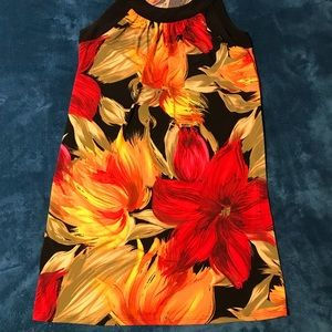 Tiana B. Tropical print dress